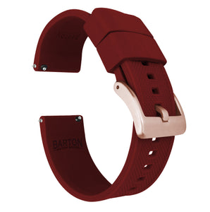 Fossil Gen 5 | Elite Silicone | Crimson Red Fossil Gen 5 Barton Watch Bands Rose Gold