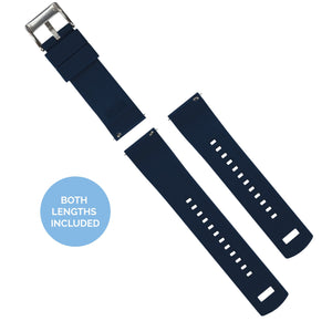 Fossil Gen 5 | Elite Silicone | Navy Blue Top / Crimson Red Bottom Fossil Gen 5 Barton Watch Bands