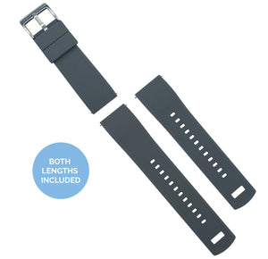 Fossil Gen 5 | Elite Silicone | Smoke Grey Top / Black Bottom Fossil Gen 5 Barton Watch Bands