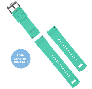 Load image into Gallery viewer, Fossil Gen 5 | Elite Silicone | Smoke Grey Top / Mint Green Bottom Fossil Gen 5 Barton Watch Bands