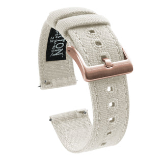 Load image into Gallery viewer, Fossil Gen 5 | Linen White Canvas - Barton Watch Bands