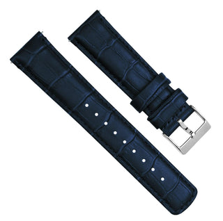 Load image into Gallery viewer, Fossil Gen 5 | Navy Blue Alligator Grain Leather Fossil Gen 5 Barton Watch Bands