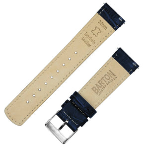 Fossil Gen 5 | Navy Blue Alligator Grain Leather Fossil Gen 5 Barton Watch Bands
