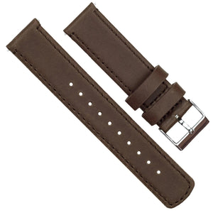 Fossil Gen 5 | Saddle Brown Leather & Stitching Fossil Gen 5 Barton Watch Bands