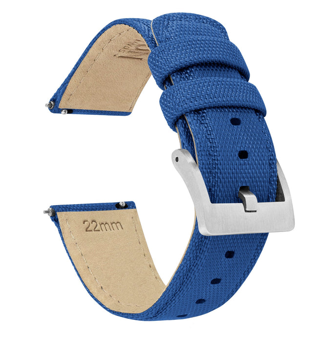 Fossil Gen 5 | Sailcloth Quick Release | Royal Blue Fossil Gen 5 Barton Watch Bands Stainless Steel