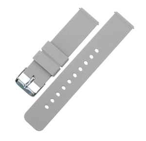 Fossil Gen 5 | Silicone | Cool Grey Fossil Gen 5 Barton Watch Bands