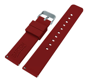 Fossil Gen 5 | Silicone | Crimson Red Fossil Gen 5 Barton Watch Bands