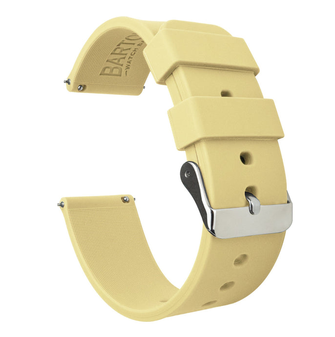 Fossil Gen 5 | Silicone | Happy Yellow Fossil Gen 5 Barton Watch Bands Stainless Steel
