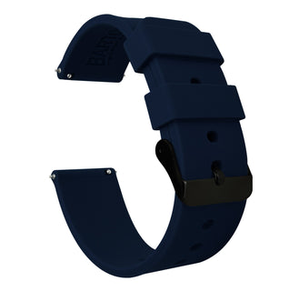 Load image into Gallery viewer, Fossil Gen 5 | Silicone | Navy Blue Fossil Gen 5 Barton Watch Bands Black PVD