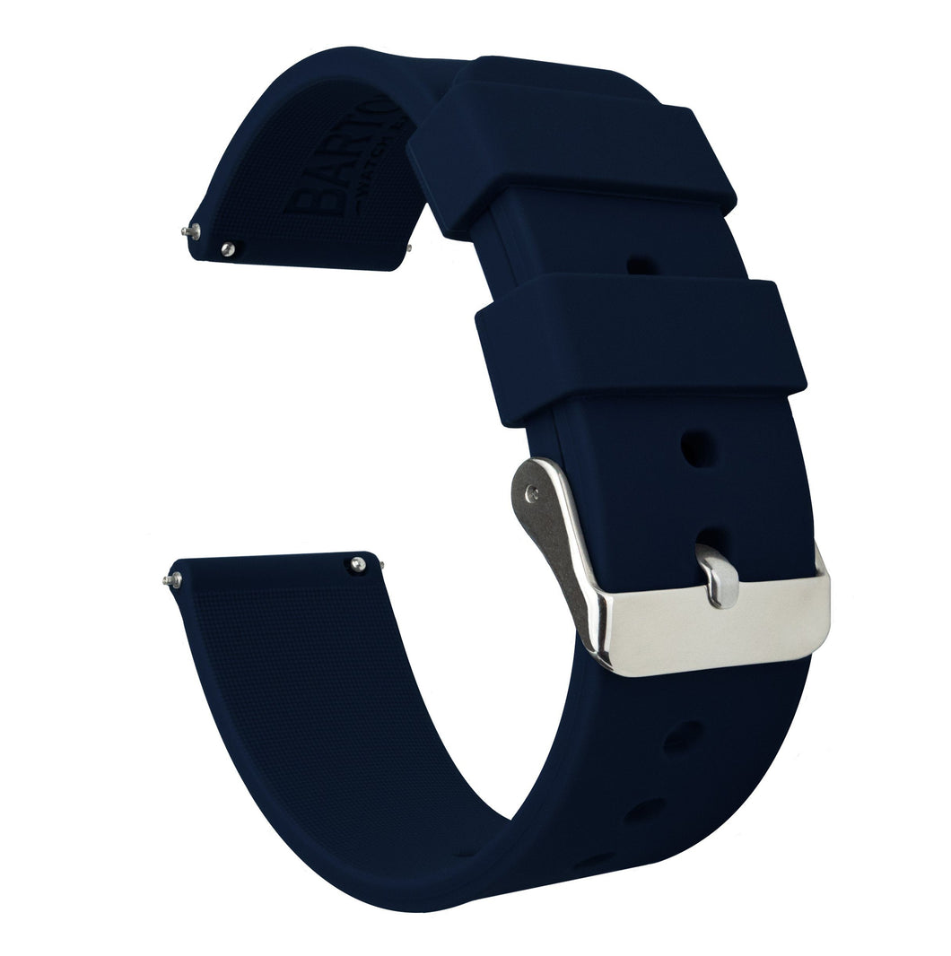 Fossil Gen 5 | Silicone | Navy Blue Fossil Gen 5 Barton Watch Bands Stainless Steel