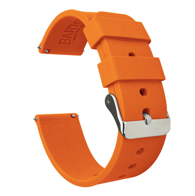Fossil Gen 5 | Silicone | Pumpkin Orange Fossil Gen 5 Barton Watch Bands Stainless Steel