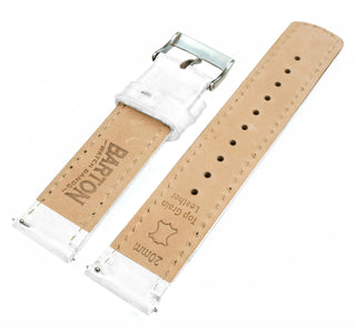 Load image into Gallery viewer, Fossil Gen 5 | White Leather & Stitching Fossil Gen 5 Barton Watch Bands