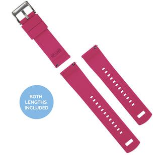Load image into Gallery viewer, Fossil Q | Elite Silicone | Black Top / Pink Bottom Fossil Q Band Barton Watch Bands