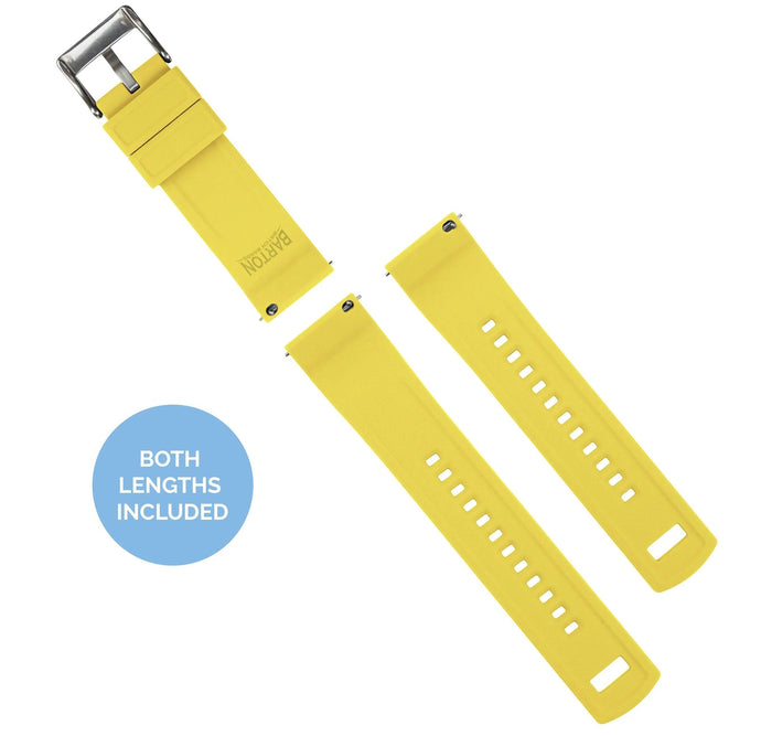 Fossil Q | Elite Silicone | Black Top / Yellow Bottom Fossil Q Band Barton Watch Bands