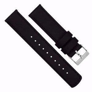 Fossil Sport | Black Leather & Stitching Fossil Sport Barton Watch Bands