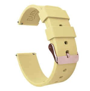 Fossil Sport | Silicone | Happy Yellow Fossil Sport Barton Watch Bands 41mm Fossil Sport Rose Gold