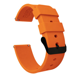 Fossil Sport | Silicone | Pumpkin Orange Fossil Sport Barton Watch Bands 41mm Fossil Sport Black PVD