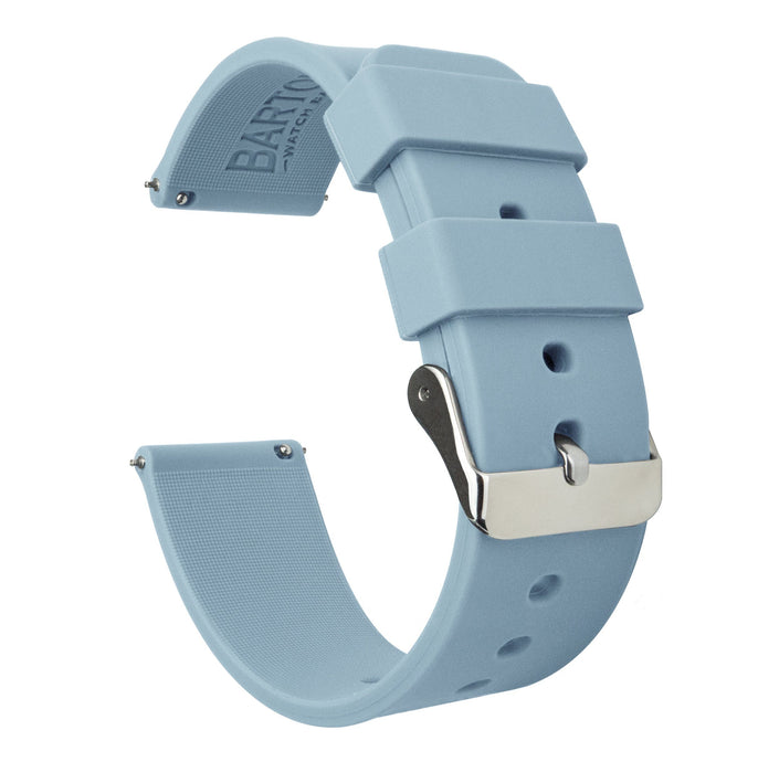 Fossil Sport | Silicone | Soft Blue Fossil Sport Barton Watch Bands 41mm Fossil Sport Stainless Steel
