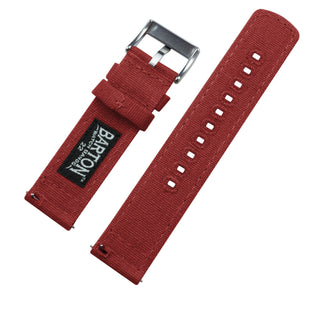 Load image into Gallery viewer, Gear S2 Classic | Crimson Red Canvas Gear S2 Classic Watch Band Barton Watch Bands