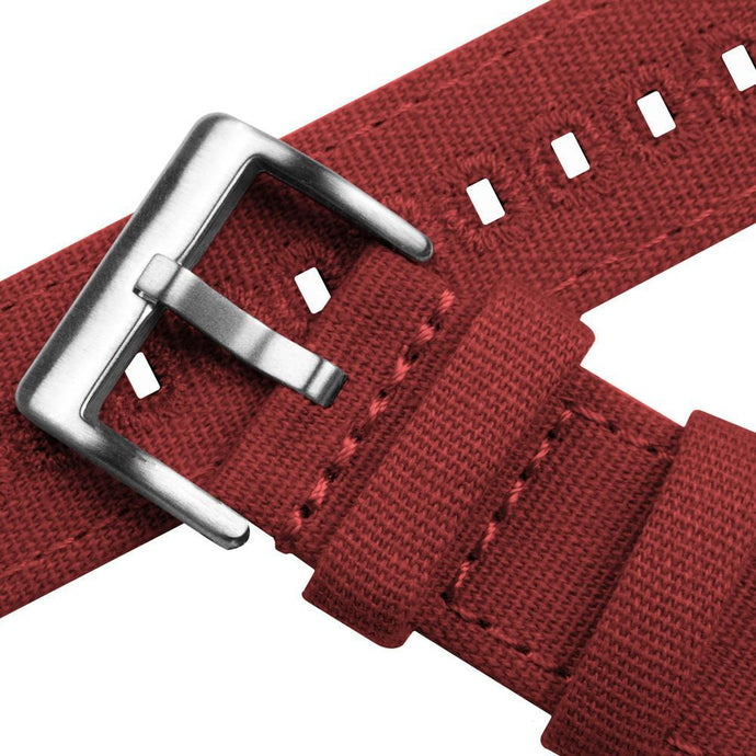 Gear S3 Classic & Frontier | Crimson Red Canvas Gear S3 Watch Band Barton Watch Bands