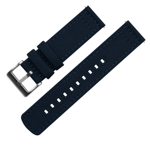 Gear S3 Classic & Frontier | Navy Blue Canvas Gear S3 Watch Band Barton Watch Bands