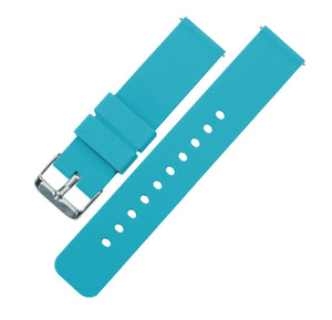 Gear Sport | Aqua Blue Silicone Gear Sport Watch Band Barton Watch Bands