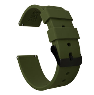 Load image into Gallery viewer, Gear Sport | Army Green Silicone Gear Sport Watch Band Barton Watch Bands Black PVD