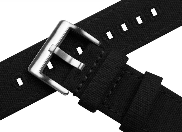 Gear Sport | Black Canvas Gear Sport Watch Band Barton Watch Bands