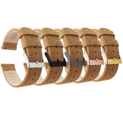 Gingerbread Leather | Gingerbread Stitching Quick Release Leather Watch Bands Barton Watch Bands