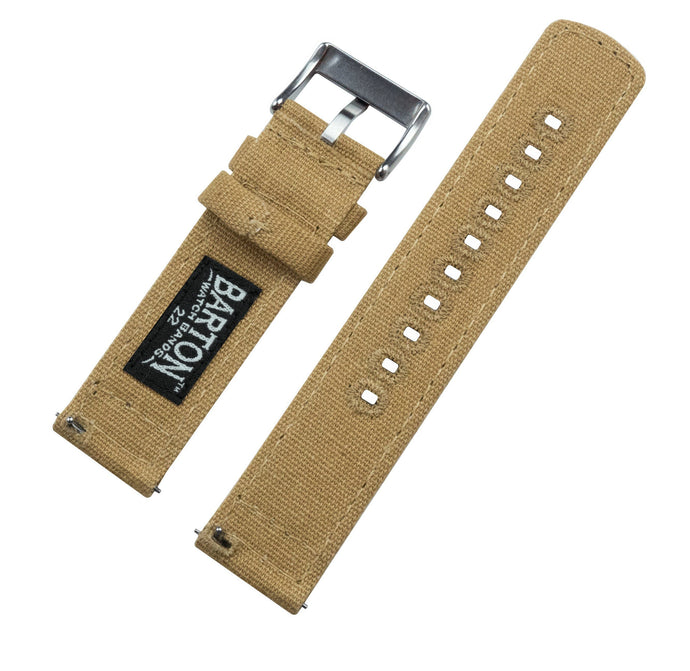 Khaki | Crafted Canvas Canvas Quick Release Barton Watch Bands