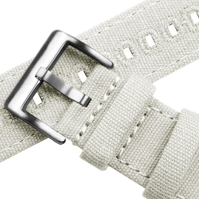 Linen White | Crafted Canvas Canvas Quick Release Barton Watch Bands