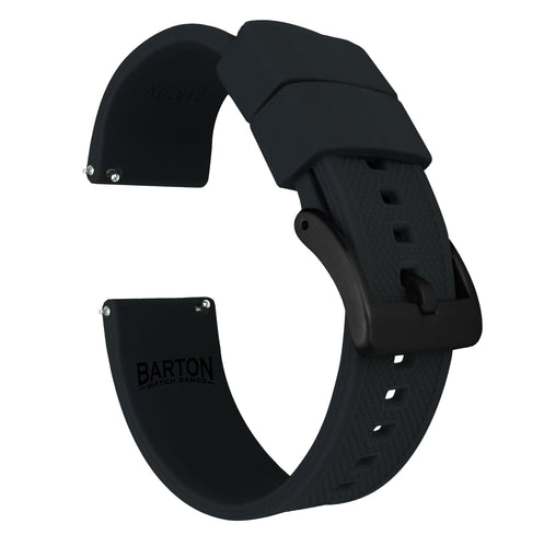 Mobvoi TicWatch | Elite Silicone | Black Mobvoi TicWatch Barton Watch Bands Pro / S2 / E2 Black PVD Standard