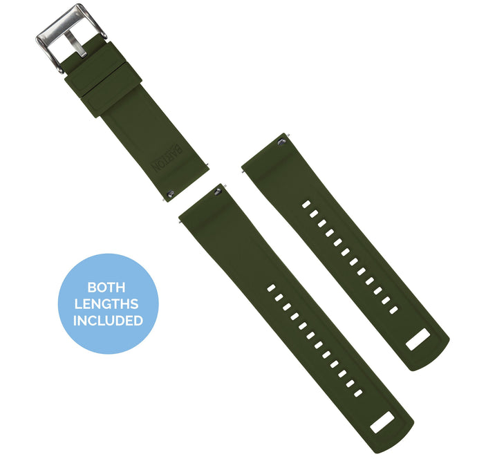 Mobvoi TicWatch | Elite Silicone | Black Top / Army Green Bottom Mobvoi TicWatch Barton Watch Bands