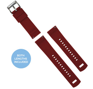 Mobvoi TicWatch | Elite Silicone | Black Top / Crimson Red Bottom Mobvoi TicWatch Barton Watch Bands