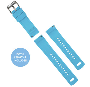 Mobvoi TicWatch | Elite Silicone | Flatwater Blue Mobvoi TicWatch Barton Watch Bands