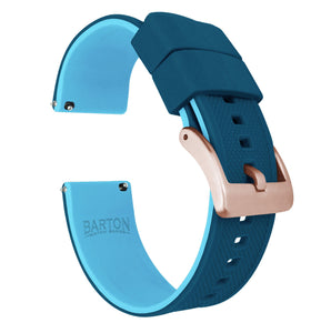 Mobvoi TicWatch | Elite Silicone | Flatwater Blue Mobvoi TicWatch Barton Watch Bands E / C2 Rose Gold