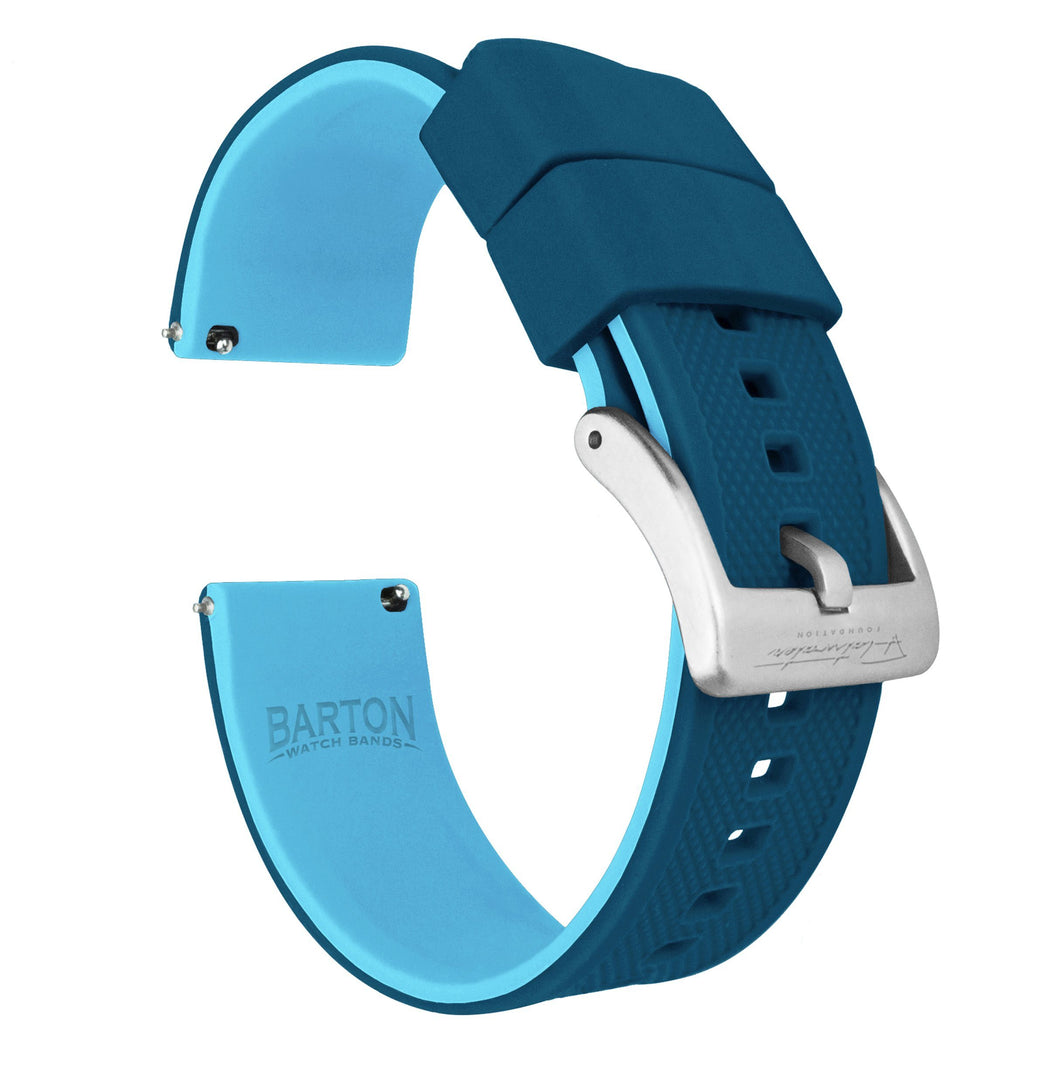 Mobvoi TicWatch | Elite Silicone | Flatwater Blue Mobvoi TicWatch Barton Watch Bands Pro / S2 / E2 Stainless Steel