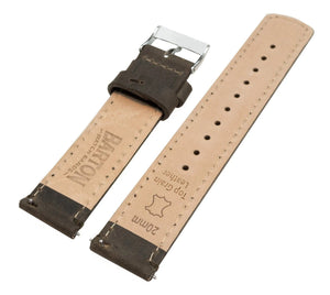 Mobvoi TicWatch | Espresso Brown Leather & Stitching Mobvoi TicWatch Barton Watch Bands