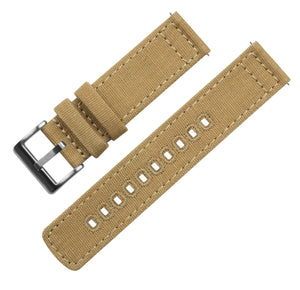 Mobvoi TicWatch | Khaki Canvas Mobvoi TicWatch Barton Watch Bands