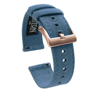 Load image into Gallery viewer, Mobvoi TicWatch | Nantucket Blue Canvas Mobvoi TicWatch Barton Watch Bands E / C2 Rose Gold