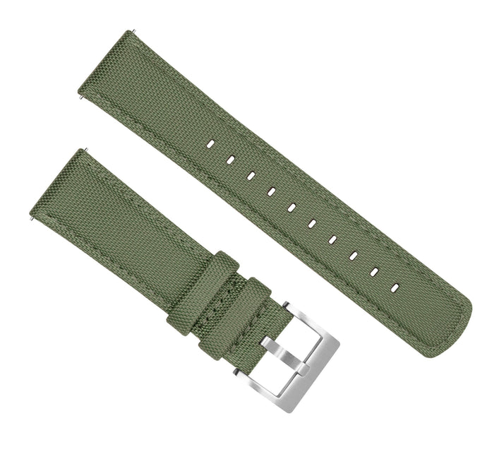 Mobvoi TicWatch | Sailcloth Quick Release | Army Green Mobvoi TicWatch Barton Watch Bands