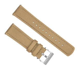 Mobvoi TicWatch | Sailcloth Quick Release | Khaki Tan Mobvoi TicWatch Barton Watch Bands