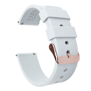 Mobvoi TicWatch | Silicone | White Mobvoi TicWatch Barton Watch Bands E / C2 Rose Gold