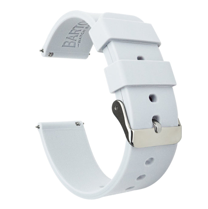 Mobvoi TicWatch | Silicone | White Mobvoi TicWatch Barton Watch Bands E / C2 Stainless Steel