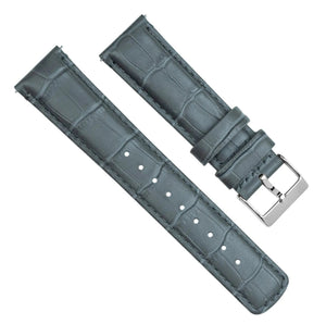 Mobvoi TicWatch | Smoke Grey Alligator Grain Leather Mobvoi TicWatch Barton Watch Bands