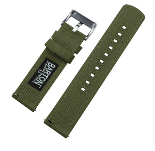 Load image into Gallery viewer, Moto 360 Gen2 | Army Green Canvas Moto360 Band Barton Watch Bands