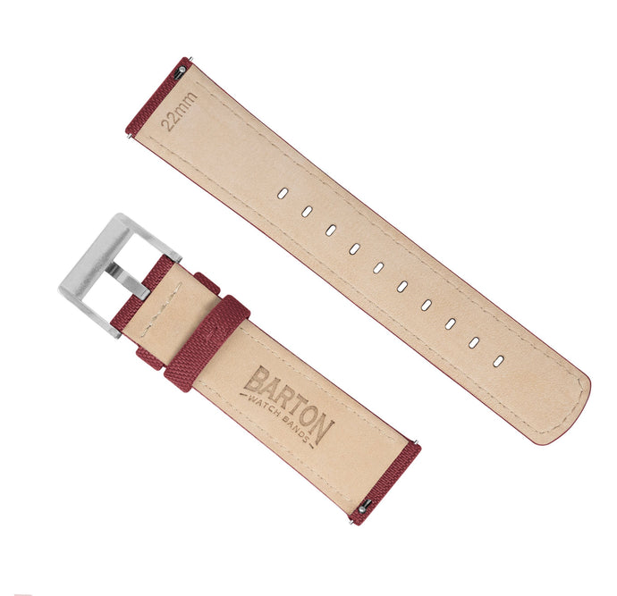 Moto 360 Gen2 | Sailcloth Quick Release | Raspberry Red Moto360 Band Barton Watch Bands