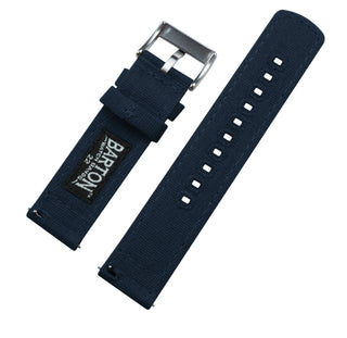 Load image into Gallery viewer, Navy Blue | Crafted Canvas Canvas Quick Release Barton Watch Bands