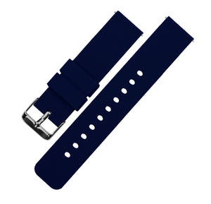 Navy Blue | Soft Silicone Quick Release Silicone Watch Band Barton Watch Bands 16mm Gunmetal Grey