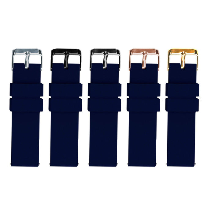 Navy Blue | Soft Silicone Quick Release Silicone Watch Band Barton Watch Bands